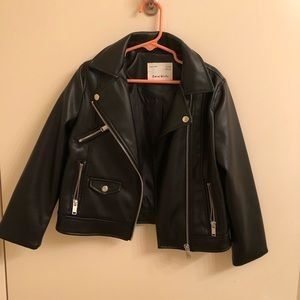 577625c5 NWOT Zara Girls Faux leather jacket size 6